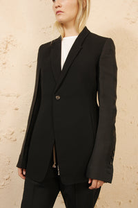 Soft Blazer With Organza Sleeve