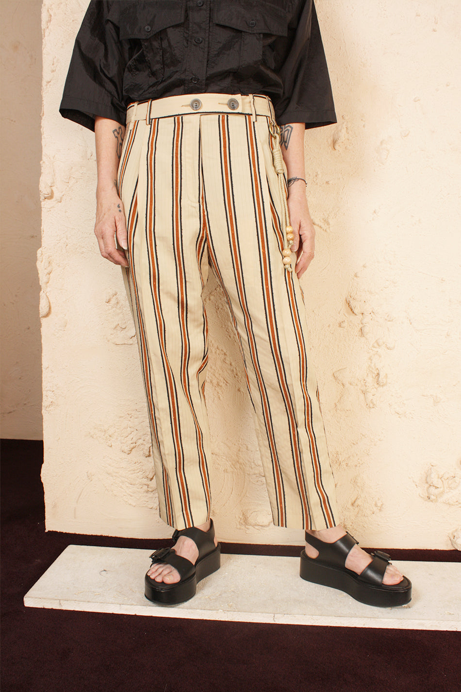 Single Pleated Pant