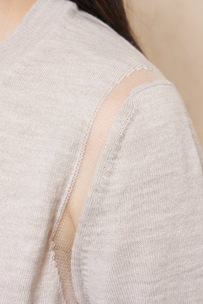 Mesh Detail Sweater