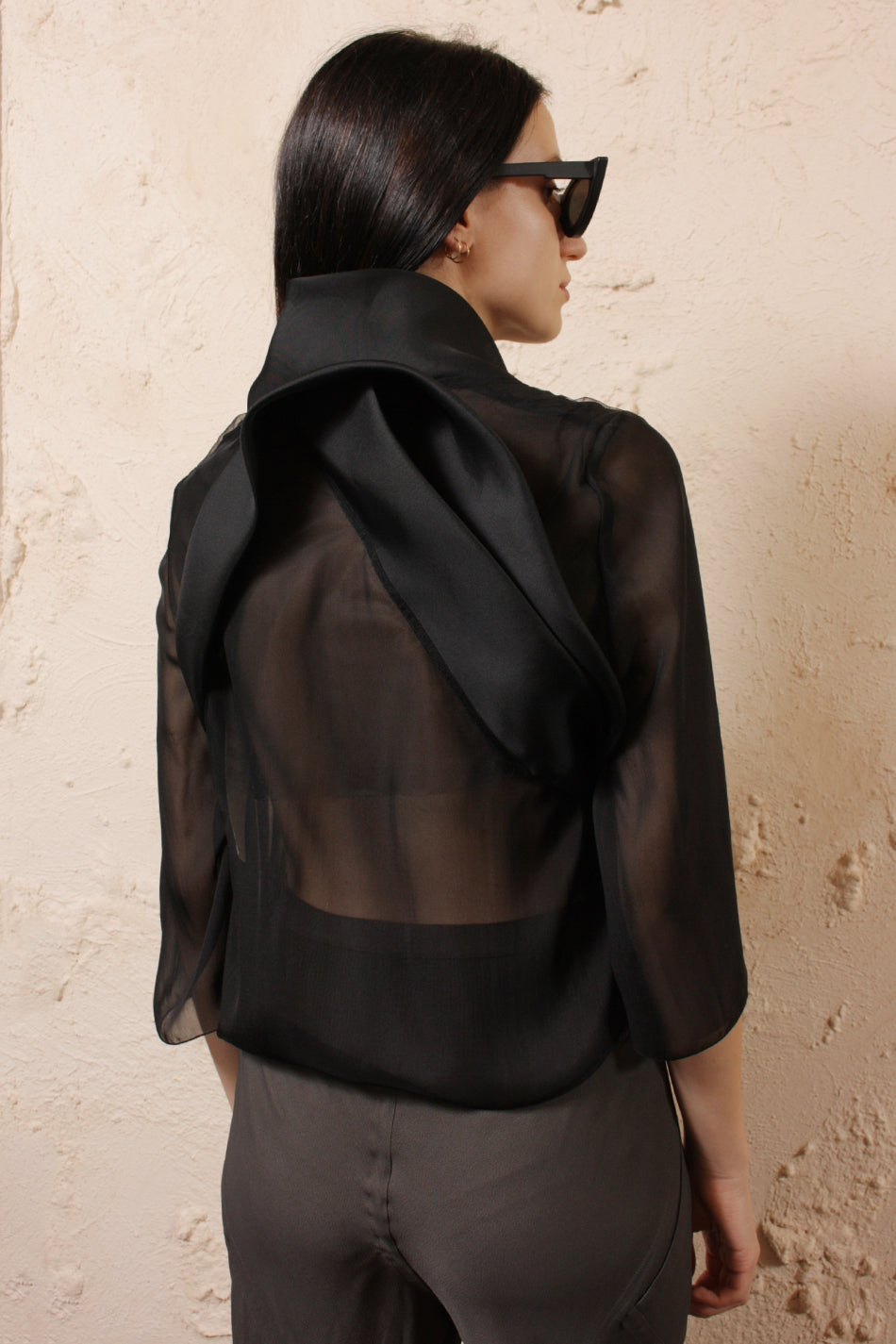 Sheer Cropped Jacket