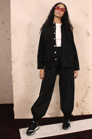 Patch Pocket Pant Black