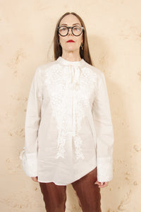 Embroidered Front Shirt