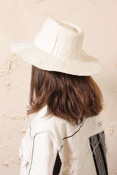 Nana Cream Velvet Hat