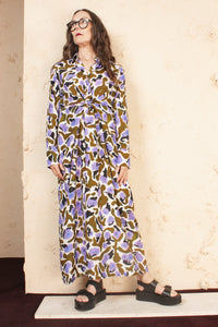 DANYA LONG LOTUS DRESS
