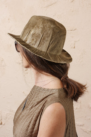 Francesco Gold Velvet Hat