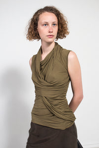 Sleeveless Drape Top