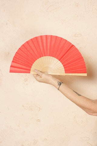 Solid Red Fan