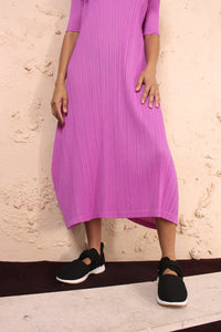 Short Sleeve Dress Purple