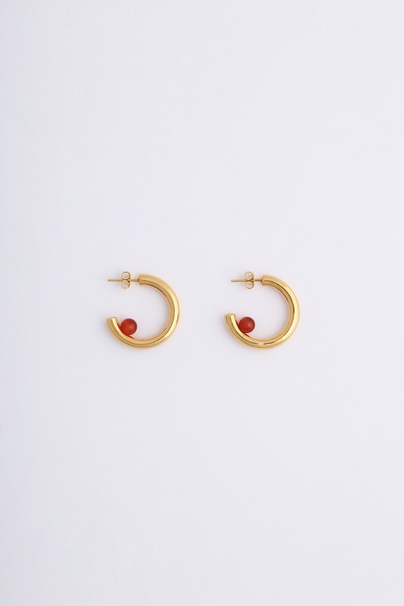 Luna Earrings Gold Orange Onyx