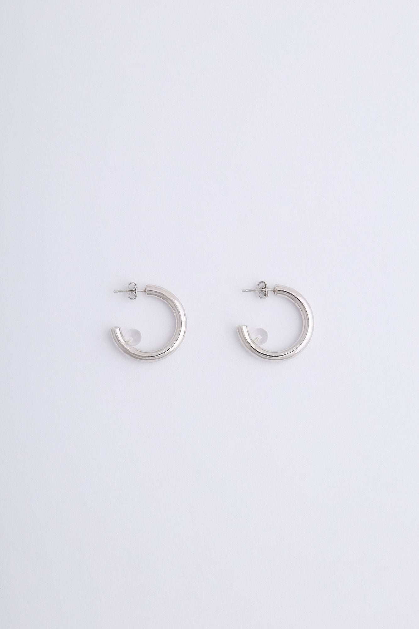 Luna Earrings Silver Quartz