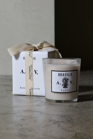 Brasilia Glass Candle