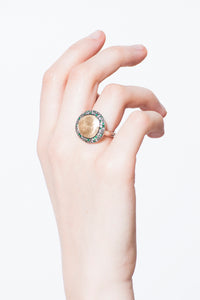 Julia Gold Emerald Ring