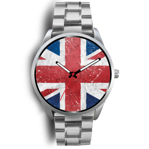 Union Jack silver watch women and men