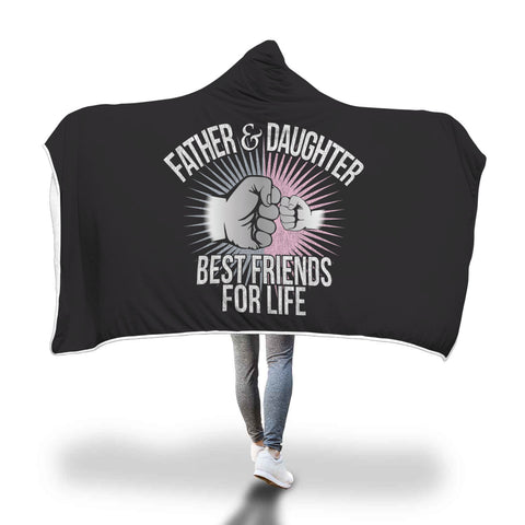 Father & Daughter BFFL Hooded Blanket