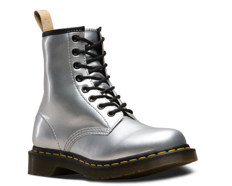 Dr. Martens 1460 Metallic Chrome / Silver - Vegan
