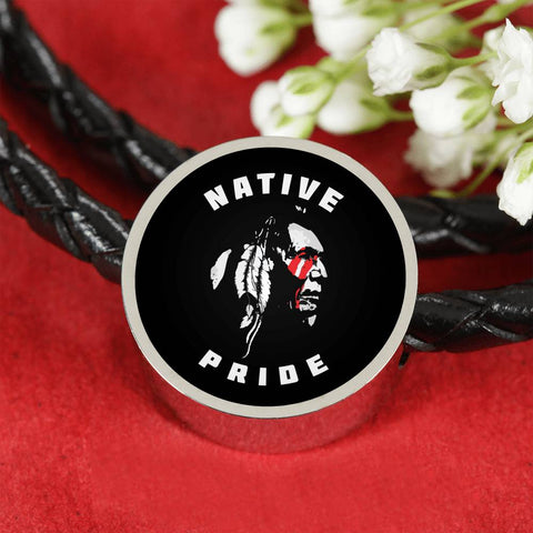 Native Pride - Awesome Real Leather Woven Bracelet