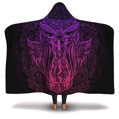 Awesome Ornament Owl - Hooded Blanket