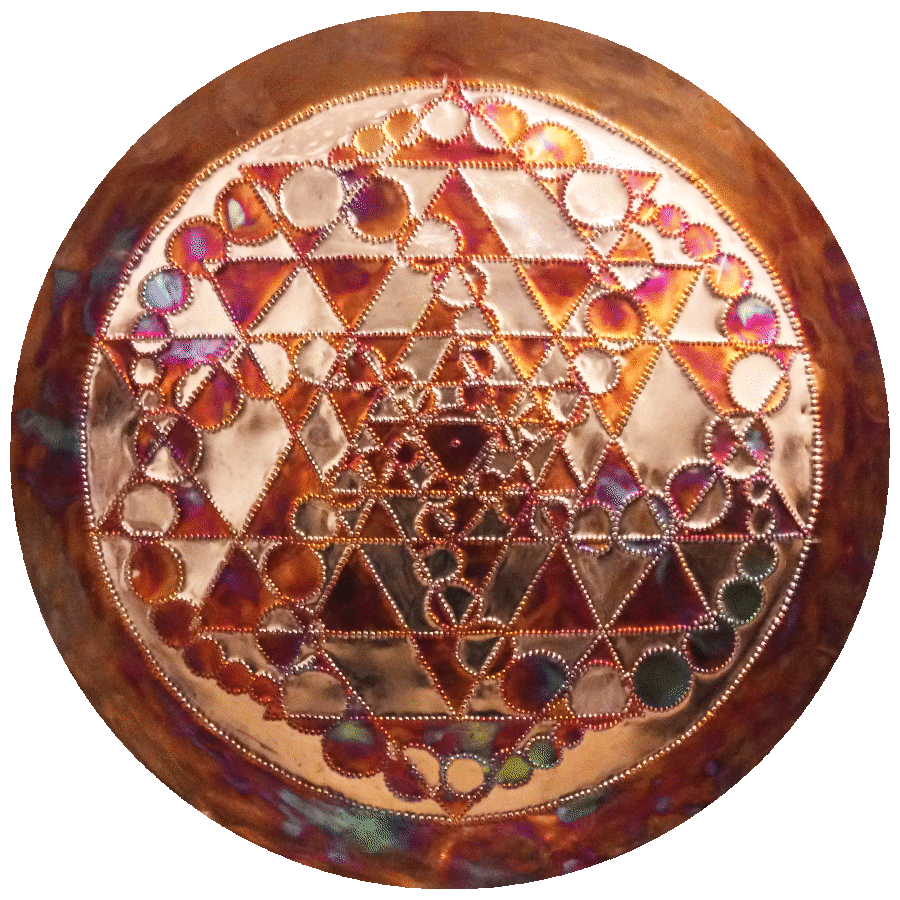 Sri Bindi Copper Lightmandala