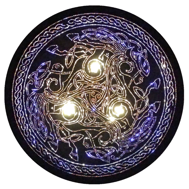 Celtic Horse Triskele Copper Lightmandala