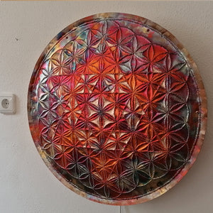 Metatrons Cube Copper Lightmandala