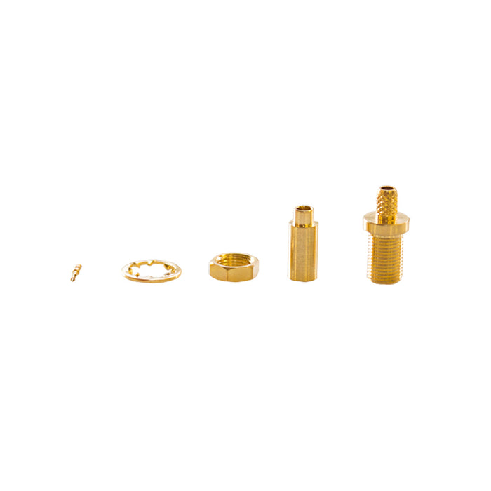 MMCX-04-15-L-TGG • MMCX bulkhead crimp jack for RG178
