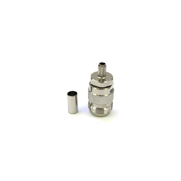 N-14-21-F2-TGN • N Type Jack Inline Crimp for RG58