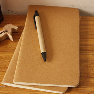 10 Pack of Cowhide Blank Notebooks - 5 Small Stones