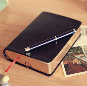 Beautiful Blank Vintage Bible Styled Notebook - 5 Small Stones