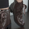 Bottines lacets ruban : marron