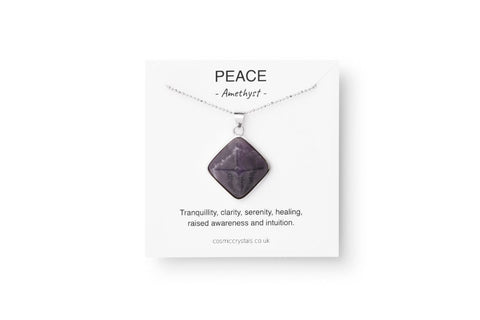 Amethyst, peace, anxiety necklace