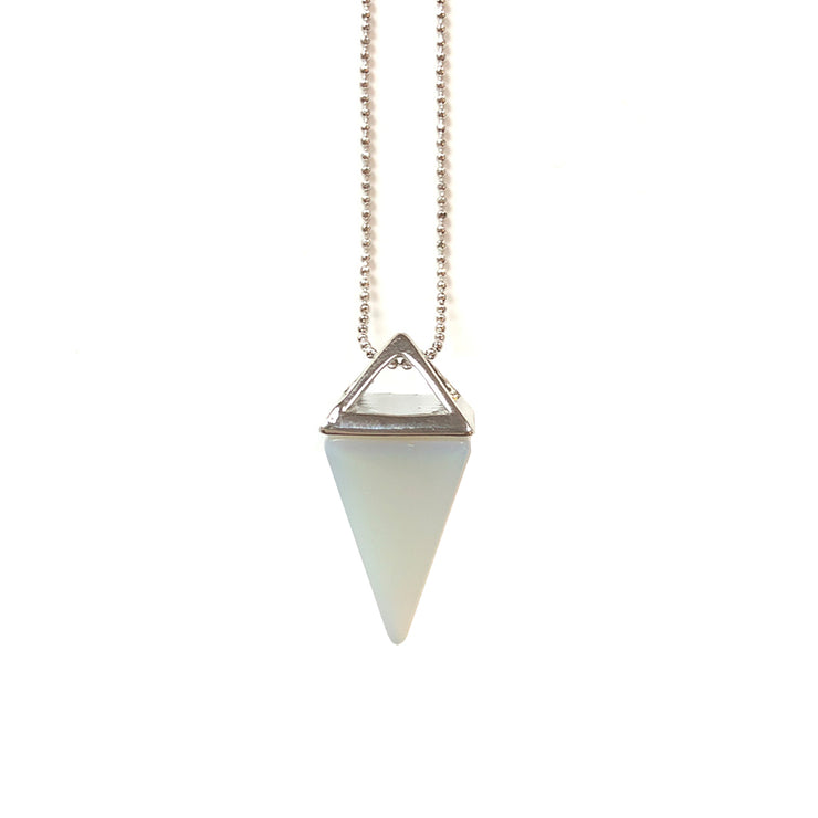 Confidence Pyramid (silver), PENDANT- Conscious Crystals, healing crystal jewellery, crystal pendants uk, crystal meanings