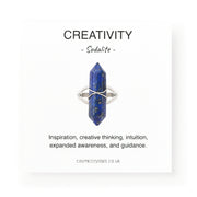 Creativity Long Ring, Sodalite
