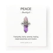 Peace Long Ring, Amethyst