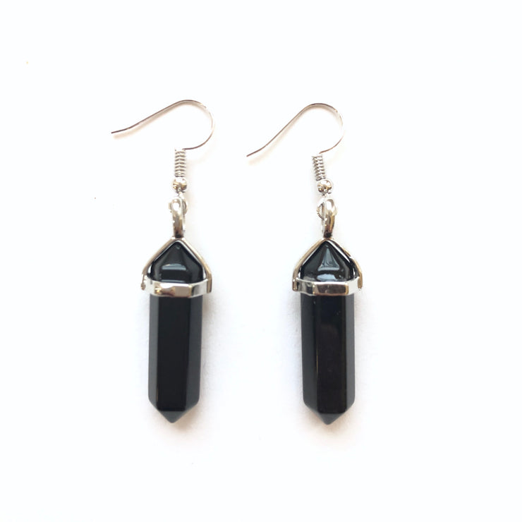 Protection Drop Earrings, Earrings- Conscious Crystals, healing crystal jewellery, crystal pendants uk, crystal meanings