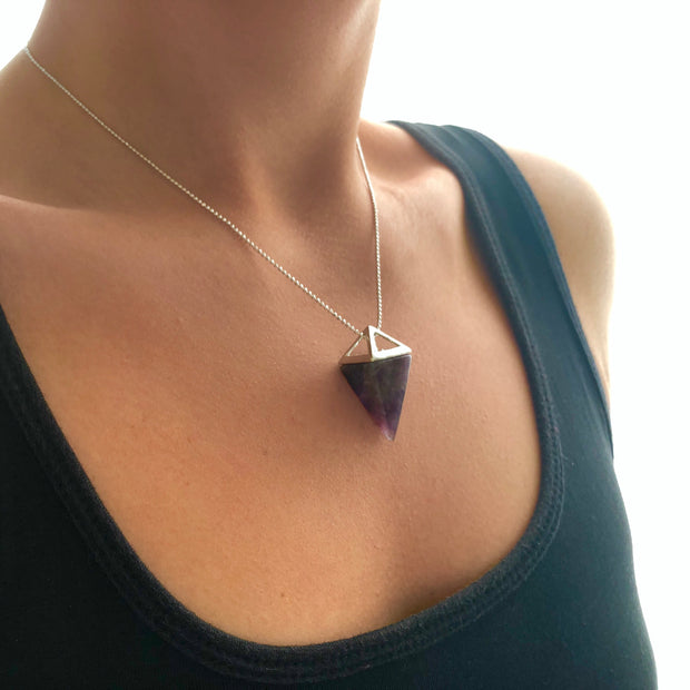 Peace Pyramid (silver), PENDANT- Conscious Crystals, healing crystal jewellery, crystal pendants uk, crystal meanings