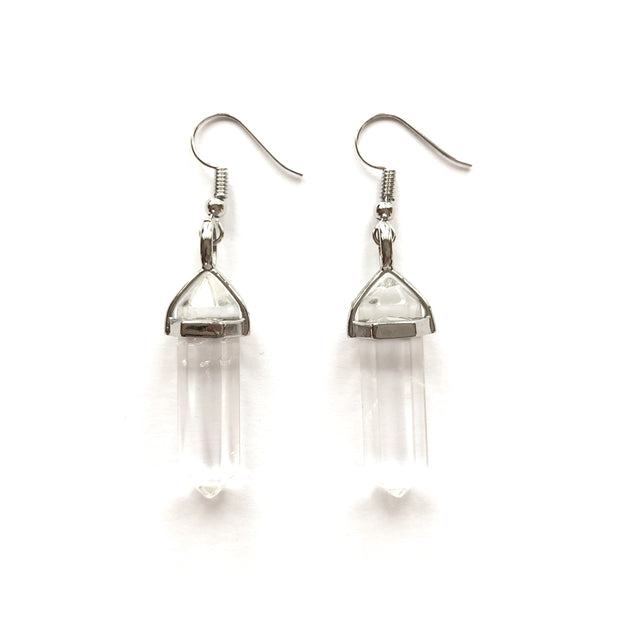 Positivity Drop Earrings, Crystal Bag- Conscious Crystals, healing crystal jewellery, crystal pendants uk, crystal meanings