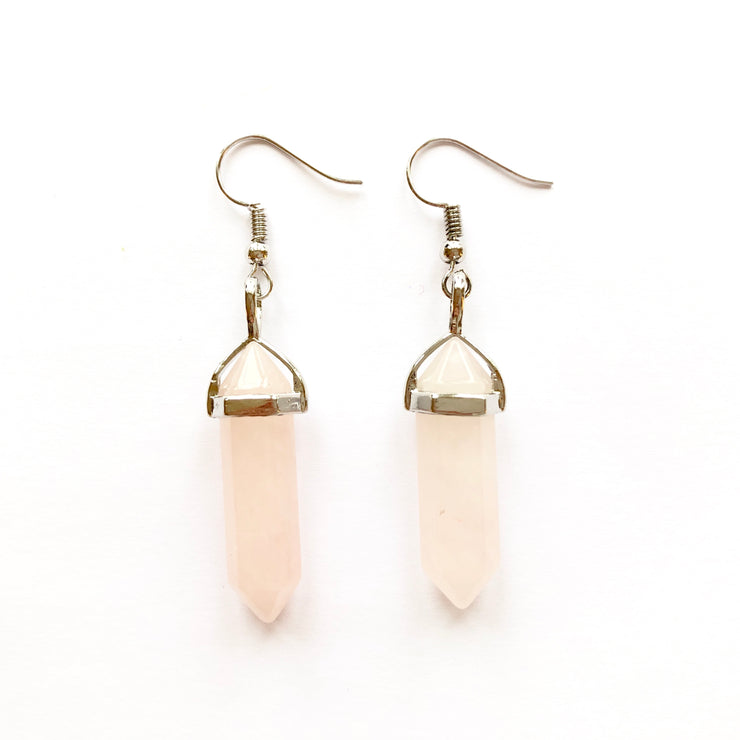 Love Drop Earrings, Crystal Bag- Conscious Crystals, healing crystal jewellery, crystal pendants uk, crystal meanings