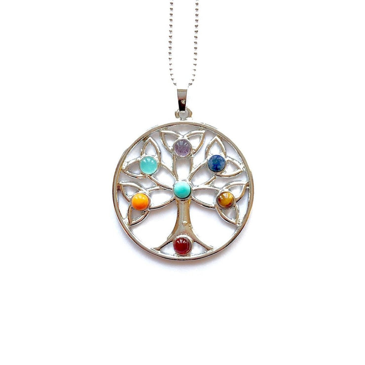 Tree Of Life Necklace, Silver tree of life, silver pendant, Chakra Pendant- Cosmic Crystals, healing crystal jewellery, crystal pendants uk, healing crystals, healing crystal jewellery, Healing with crystals