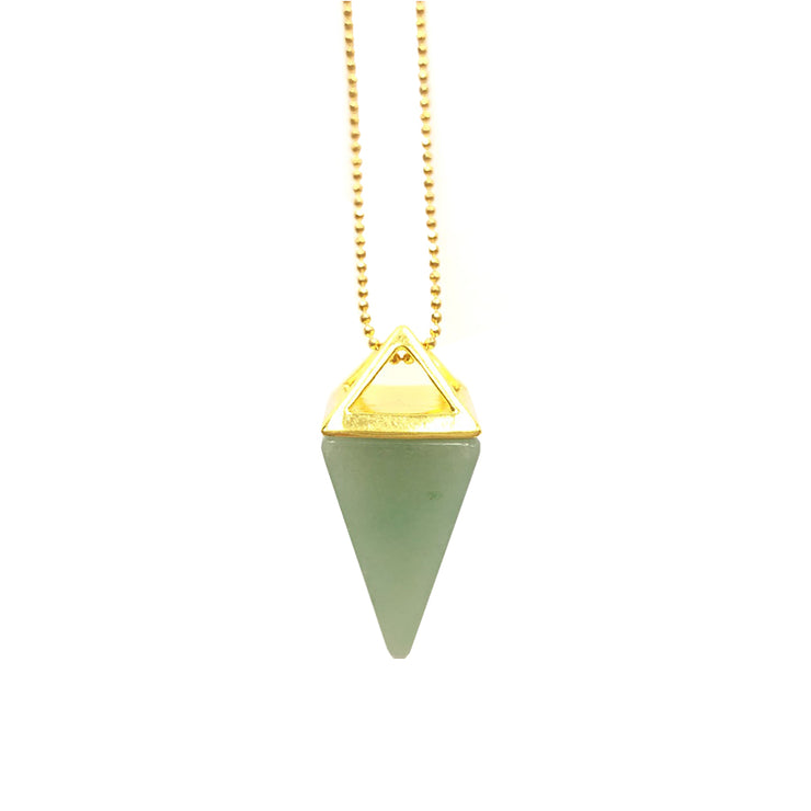 Luck Pyramid (gold), PENDANT- Conscious Crystals, healing crystal jewellery, crystal pendants uk, crystal meanings