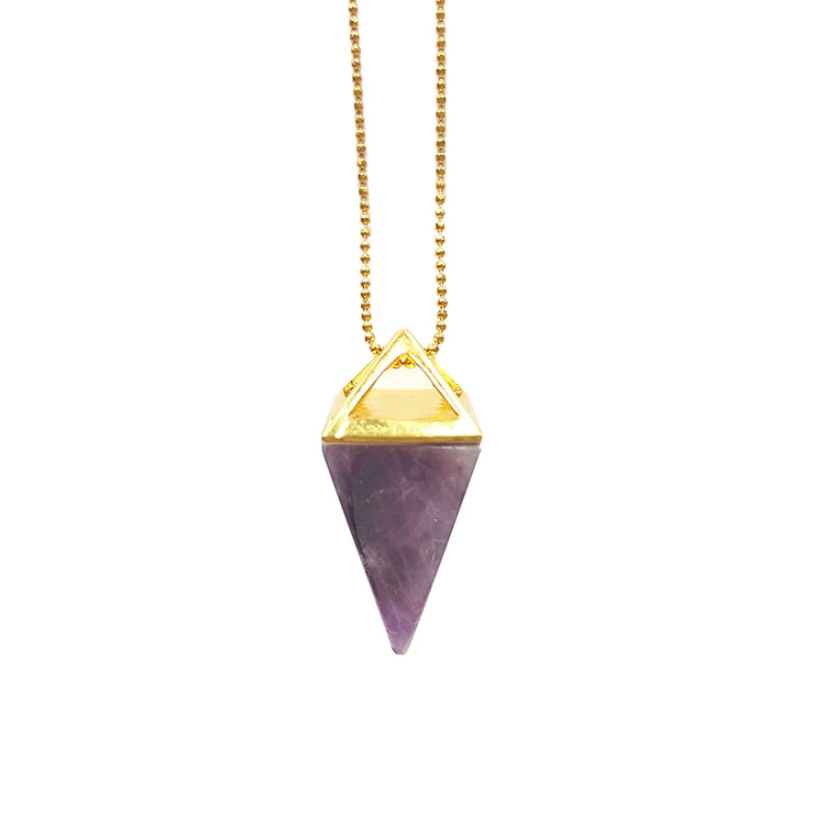 Peace Pyramid (gold), PENDANT- Conscious Crystals, healing crystal jewellery, crystal pendants uk, crystal meanings