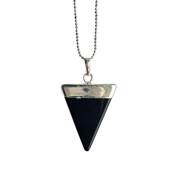 Protection Triangle (silver), Triangle Pendant- Conscious Crystals, healing crystal jewellery, crystal pendants uk, crystal meanings