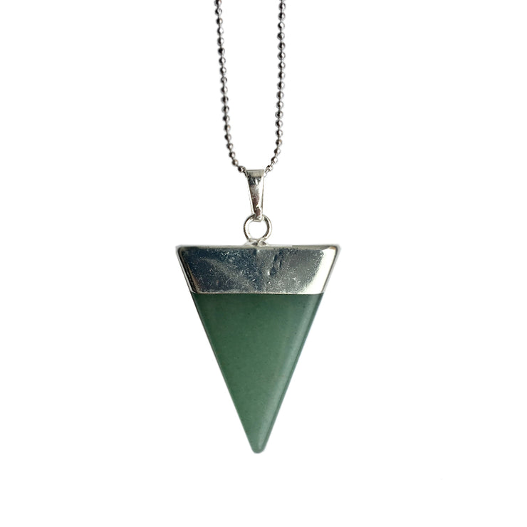 Luck Triangle (silver), Triangle Pendant- Conscious Crystals, healing crystal jewellery, crystal pendants uk, crystal meanings