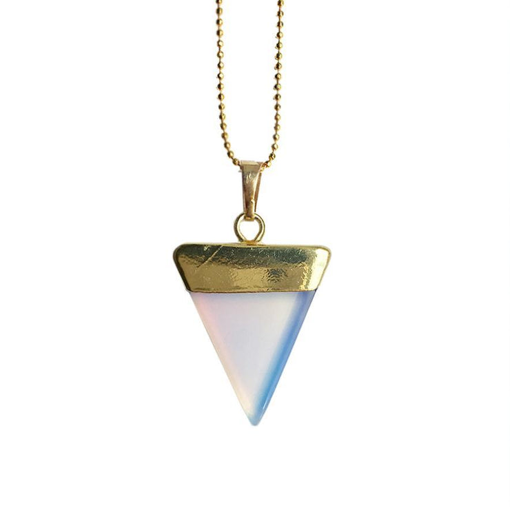 Confidence Triangle (gold), Triangle Pendant- Conscious Crystals, healing crystal jewellery, crystal pendants uk, crystal meanings