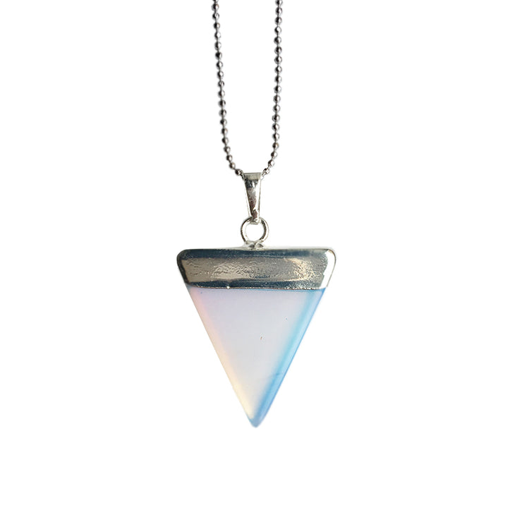 Confidence Triangle (silver), Triangle Pendant- Conscious Crystals, healing crystal jewellery, crystal pendants uk, crystal meanings