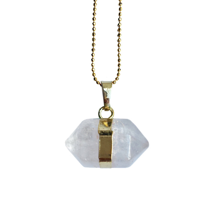 Positivity Hexagon (gold), PENDANT- Conscious Crystals, healing crystal jewellery, crystal pendants uk, crystal meanings