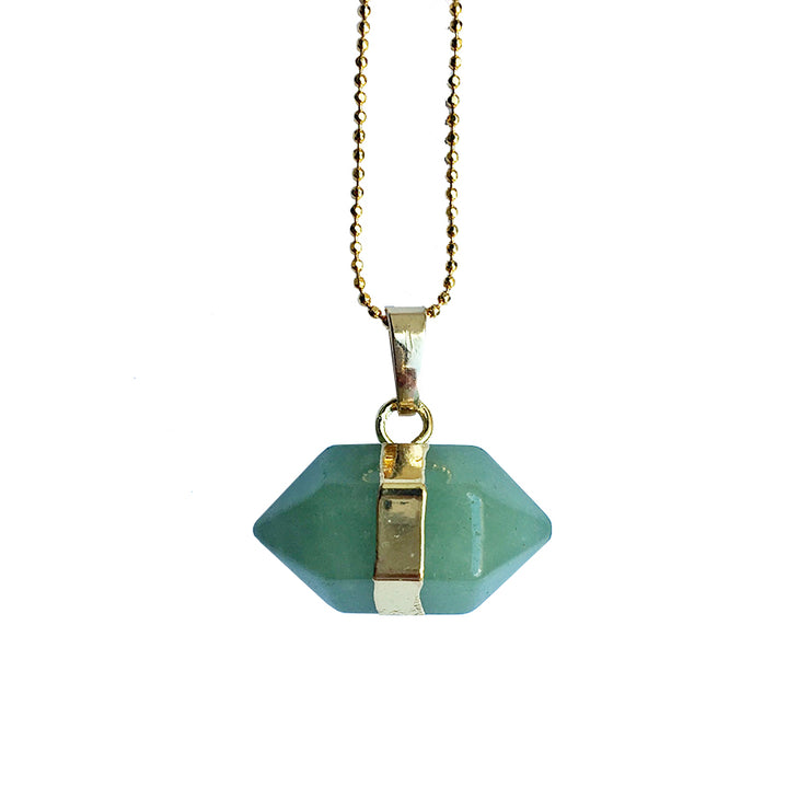 Luck Hexagon (gold), PENDANT- Conscious Crystals, healing crystal jewellery, crystal pendants uk, crystal meanings