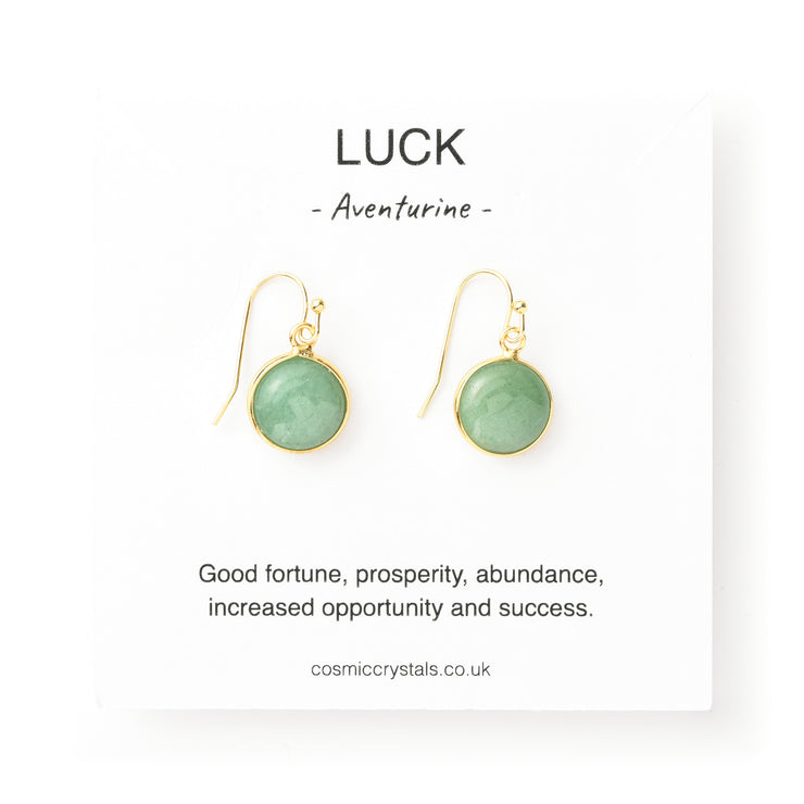 Luck Earrings, Aventurine
