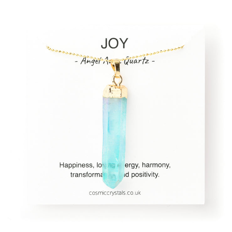 Raw Joy Necklace, Aqua Angel Aura