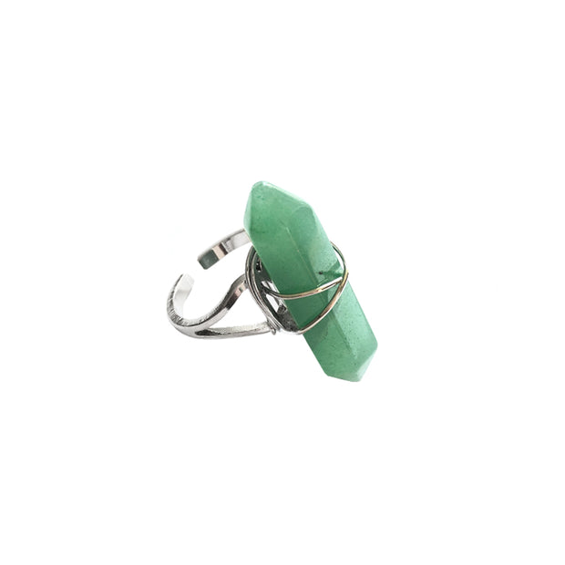 Healing crystals, crystals for healing, Luck Ring, aventurine ring, green silver ring, cosmic crystals, healing crystal jewellery.