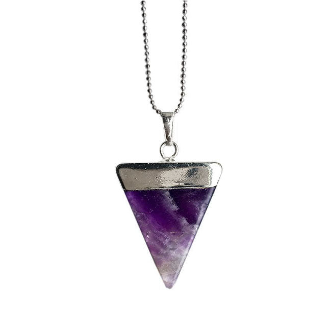 Peace Triangle Silver, Amethyst